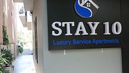 Stay 10 Service Apartments - SIGNAGE
